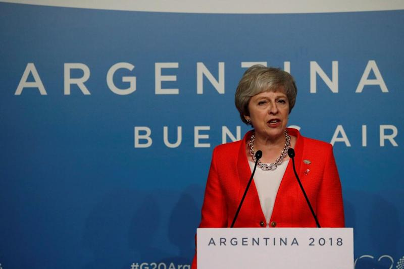 Theresa May said at the G20 she does not believe her premiership will end with Brexit (REUTERS)