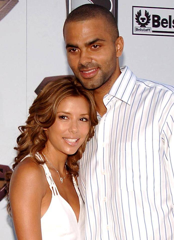 "It was love at first sight for Eva Longoria and Tony Parker when they met at a Spurs game. John Sciulli/<a href=""http://www.wireimage.com"" target=""new"">WireImage.com</a> - June 21, 2006"