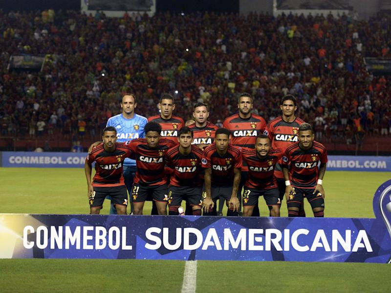 Sport Recife playing in the 2017 Copa Sudamericana against Uruguay's Danubio (AFP/Getty)