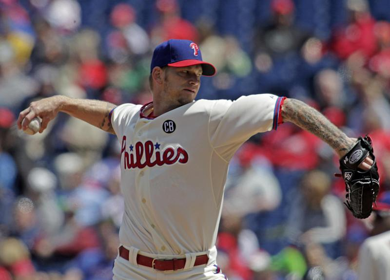 Revere's RBI single lifts Phillies over Braves 1-0