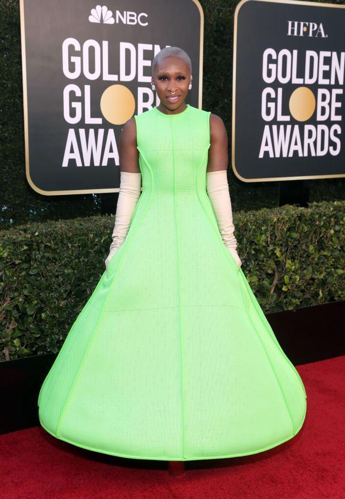 <p>In a night full of head-turning looks, Cynthia Erivo may just have outdone them all in this jaw-dropping sci-fi queen ensemble, complete with mega-glam spaceboot action. No one else wore anything like it, which was, we think, the entire point.</p>