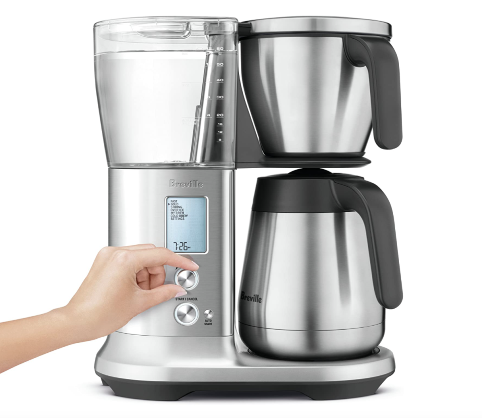 silver Breville BDC450BSS Precision Brewer Thermal coffee machine with hand turning thermostat