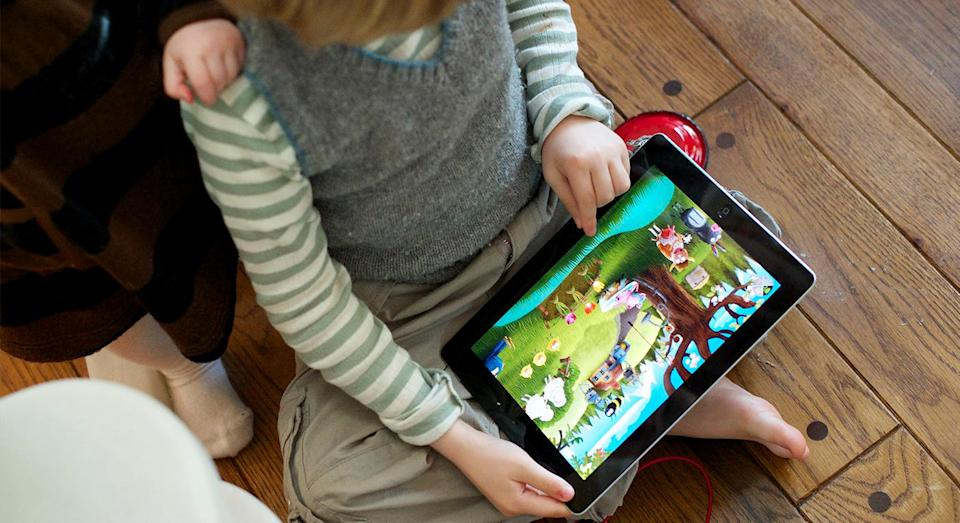 Children as young as two years old can be affected by smartphone and tablet use. [Photo: Getty]