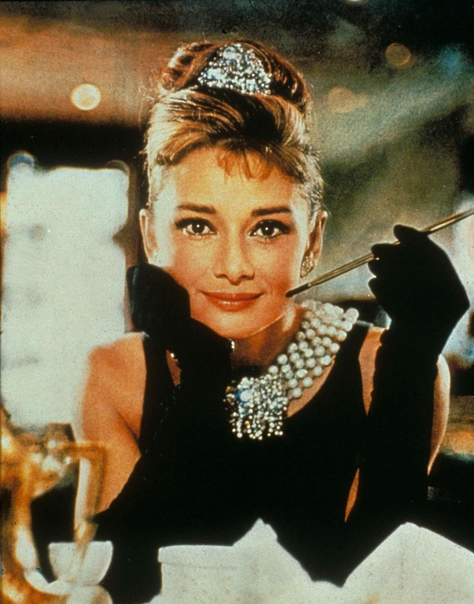 Audrey Hepburn as Holly Golightly in 'Breakfast At Tiffany's' (1961) Real age at the time: 32 - Character age: 18