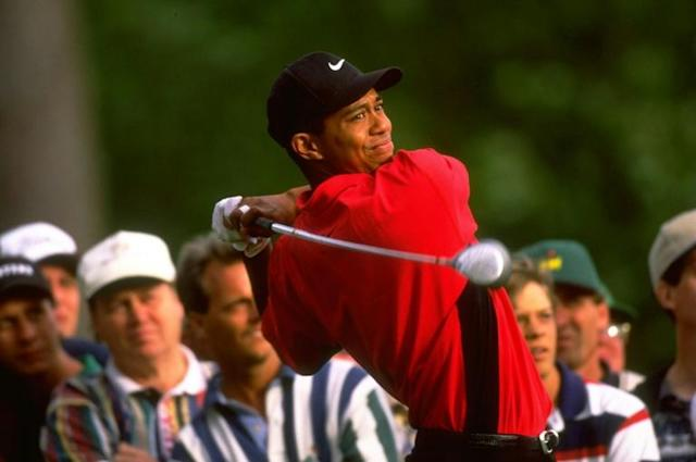 Memory lane: Tiger Woods at the 1997 Masters (AFP Photo/DAVID CANNON)