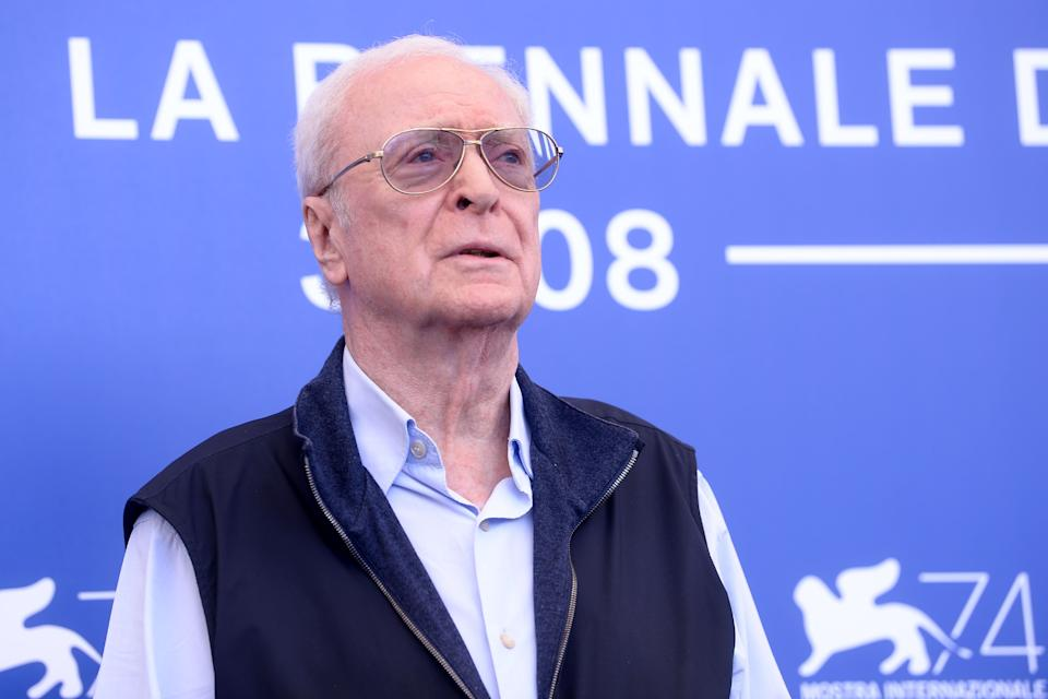 Actor Michael Caine attends the photocall of the movie