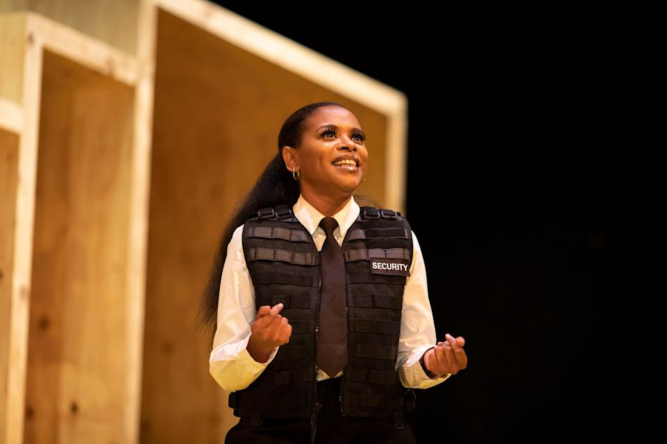 Ayesha Antoine in Go, Girl by Roy Williams, as part of Out West at Lyric Hammersmith (Helen Maybanks)