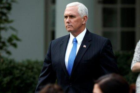 FILE PHOTO - U.S. Vice President Mike Pence arrives before U.S. President Donald Trump and Singapore's Prime Minister Lee Hsien Loong speak at a joint statement at the White House in Washington, DC, U.S. October 23, 2017. REUTERS/Joshua Roberts