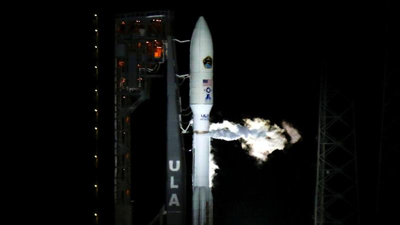 A United Launch Alliance Atlas 5 rocket is fueled for launch at the Cape Canaveral Air Force Station in Cape Canaveral