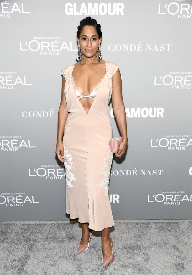 "<p>The event's host wore a Fendi dress that perfectly expressed on the outside how she was feeling on the inside. ""I decided I was going to wear something that made me look as vulnerable as I feel,"" she said of her Fendi ""nightie"" and an underwire-free bra. (Photo: Getty Images) </p>"