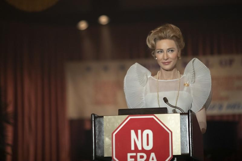"MRS. AMERICA -- ""Reagan"" --Episode 9 (Airs May 27) Pictured: Cate Blanchett As Phyllis Schlafly."