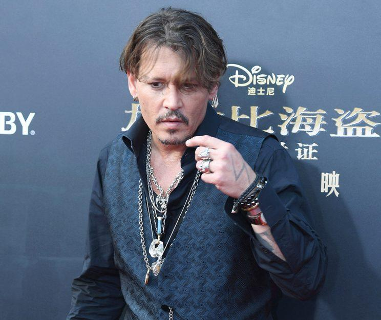 American actor Johnny Depp attends the premiere of film