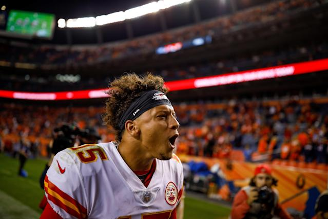 Patrick Mahomes hasn't lost as a starting quarterback in the NFL. (Getty Images)
