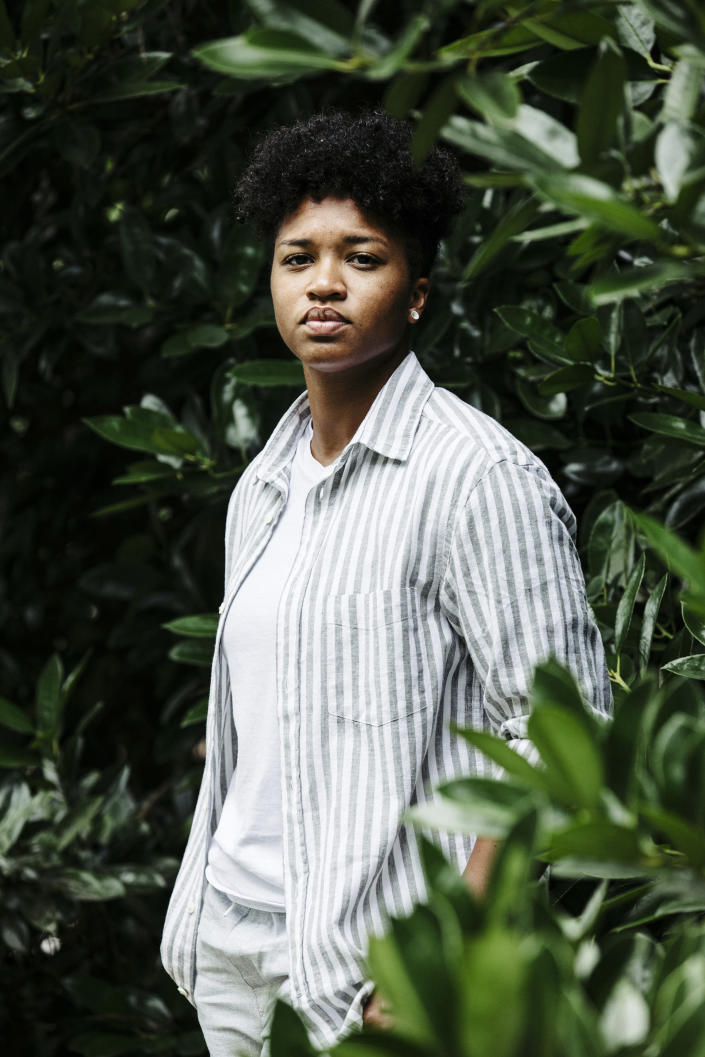 Denise Newton, 24, who was contacted by a company called Heies this year after she lost her job, in Birmingham, Ala., Aug. 13, 2020. (Wes Frazer/The New York Times)