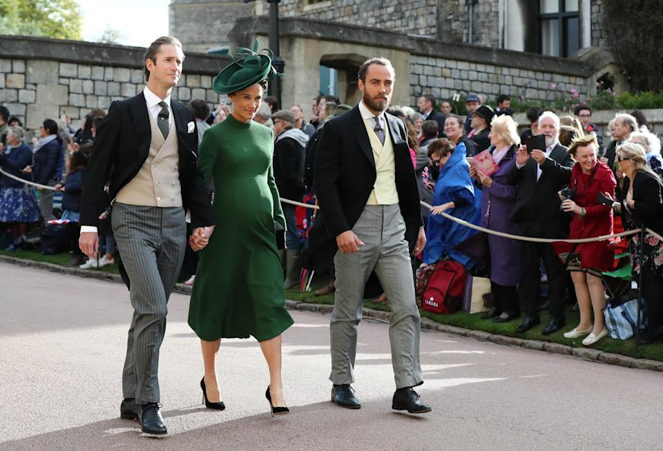 James Matthews, Pippa Middleton and her brother James Middleton arrive (PA)