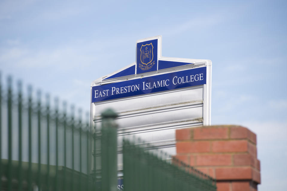 Signage is seen at the East Preston Islamic College in Melbourne where the virus has been detected. Source: AAP