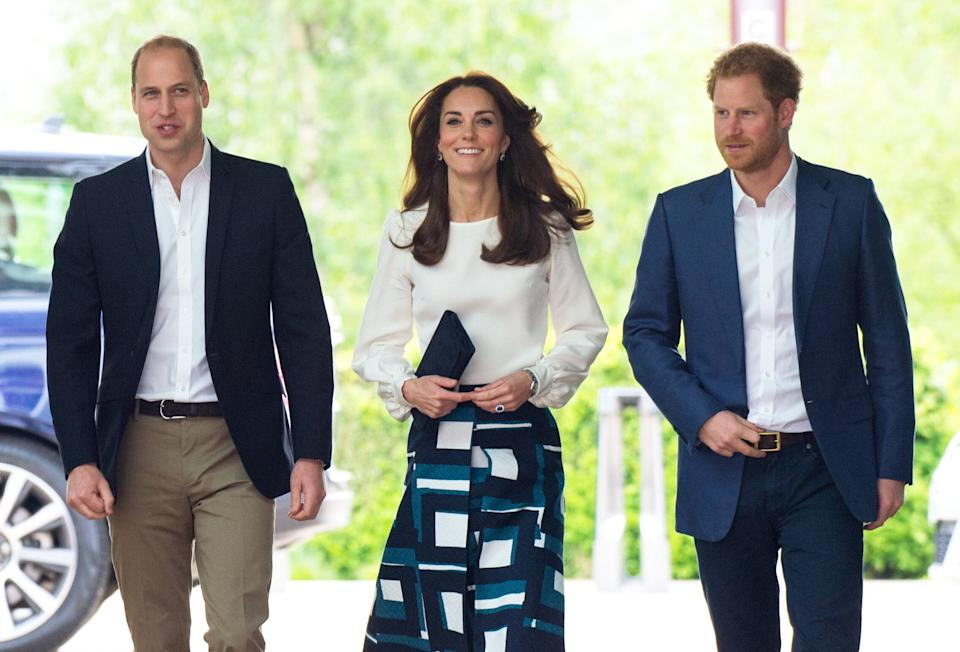 William, Kate and Harry launched the Heads Together mental health campaign in 2016. [Photo: PA]