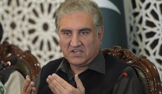 Chinese Foreign Minister Wang Yi met his Pakistani counterpart, Shah Mahmood Qureshi (pictured), in Hainan on Friday. Photo: AFP