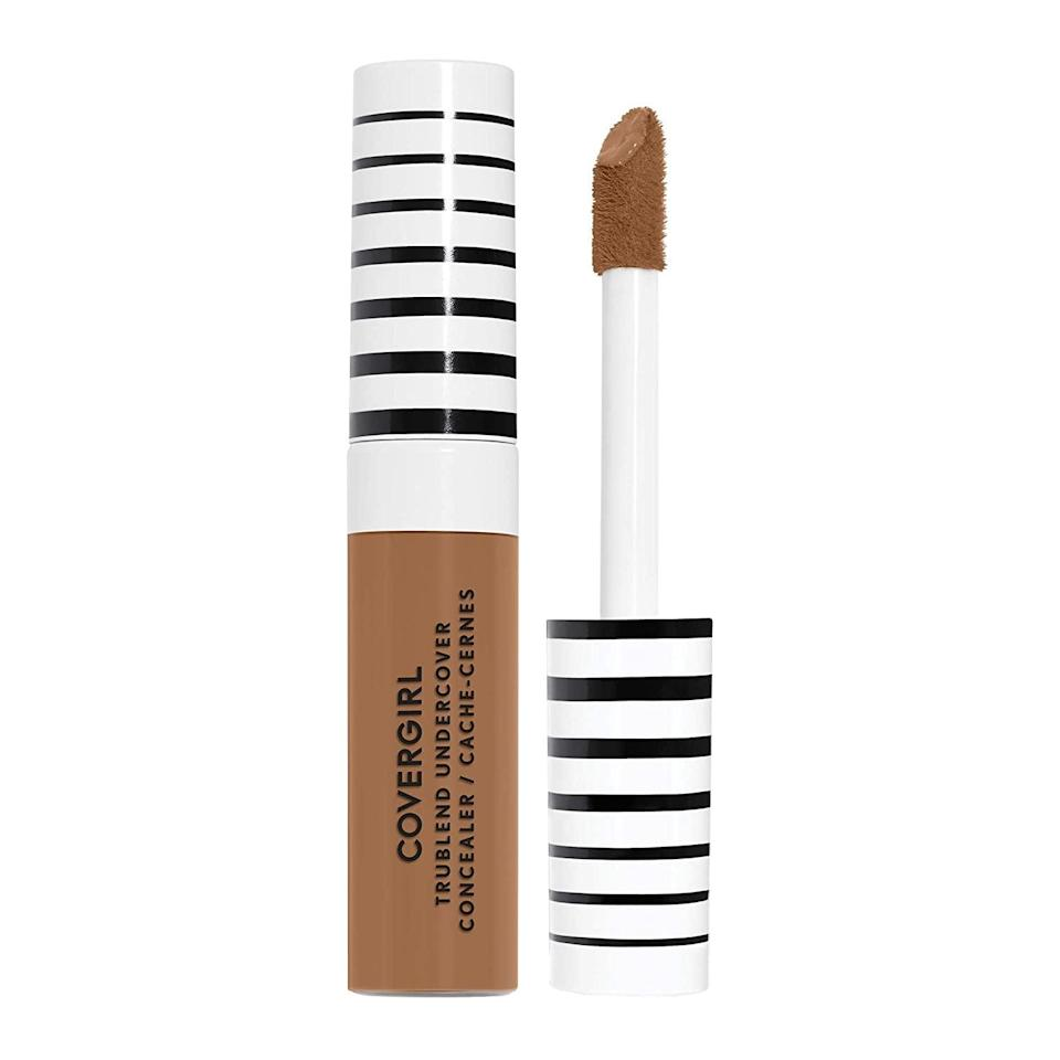 """<p>This <span>COVERGIRL TruBlend Undercover Concealer</span> ($8) is lightweight yet full coverage. It dries down to a soft matte finish giving you a seamless and flawless complexion.</p> <p><strong>Customer Review:</strong> """"Not only is the packaging of this concealer cute and classic, but it also provides really great coverage. You only need to use a little bit. It has a big doefoot applicator. If you're wanting a concealer that is similar to Shape Tape, but that is drugstore price, then you will like this concealer!""""</p>"""
