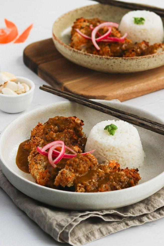 """<p>Our katsu curry sauce uses <a href=""""https://www.delish.com/uk/cooking/recipes/a35064430/coconut-curry-salmon-recipe/"""" rel=""""nofollow noopener"""" target=""""_blank"""" data-ylk=""""slk:coconut milk"""" class=""""link rapid-noclick-resp"""">coconut milk</a>, chicken stock, soy sauce and curry powder. A simple take on everyone's favourite restaurant or takeaway dish. </p><p>Get the <a href=""""https://www.delish.com/uk/cooking/recipes/a35761653/chicken-katsu-curry/"""" rel=""""nofollow noopener"""" target=""""_blank"""" data-ylk=""""slk:Chicken Katsu Curry"""" class=""""link rapid-noclick-resp"""">Chicken Katsu Curry</a> recipe.</p>"""