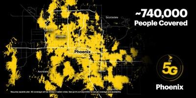Sprint's on-the-go customers can now experience the power and performance of True Mobile 5G across the greater Phoenix metro area.