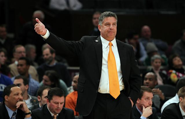 NEW YORK - NOVEMBER 24: Head coach of the Tennessee Volunteers, Bruce Pearl looks on from the sideline against the Virginia Commonwealth Rams during their preseason NIT semifinal at Madison Square Garden on November 24, 2010 in New York City. (Photo by Nick Laham/Getty Images)
