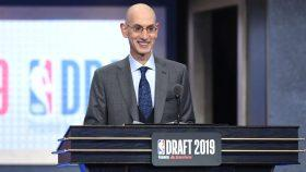 NBA Commissioner Adam Silver in the NBA Draft