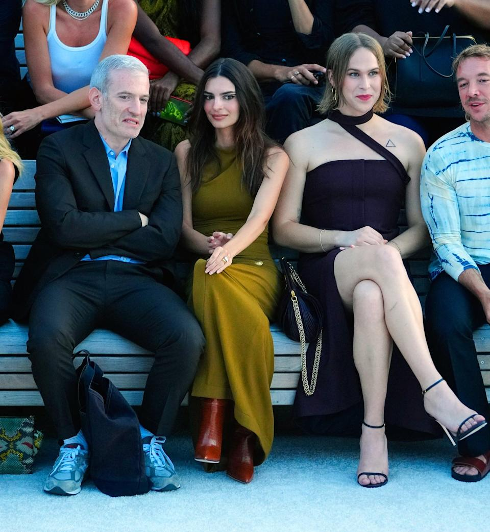 <p>All eyes were on Tommy Dorfman and Emily Ratajkowski at Proenza Schouler's show.</p>