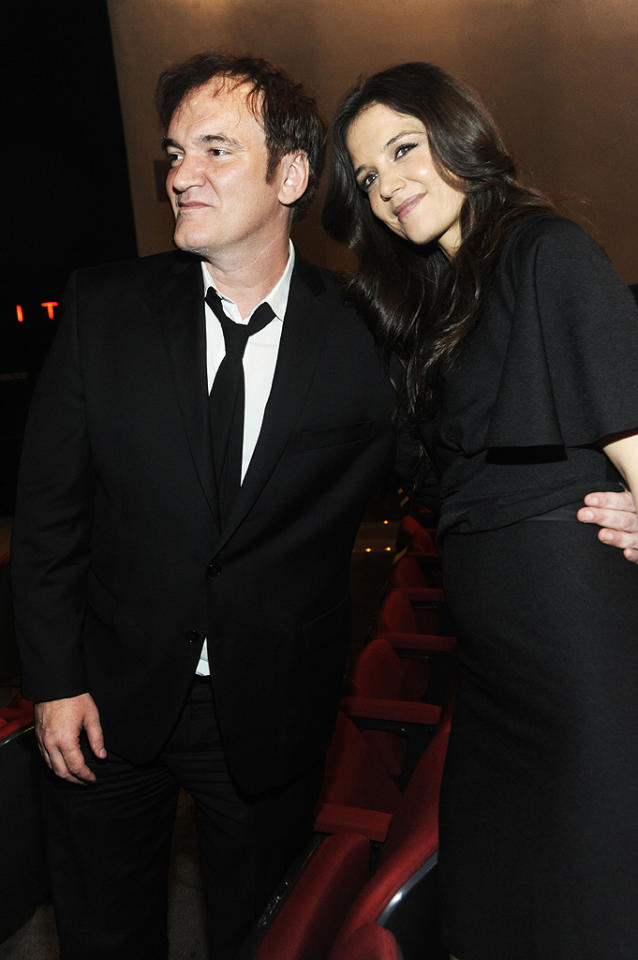 NEW YORK, NY - DECEMBER 03: Quentin Tarantino and Katie Holmes attends The Museum of Modern Art 5th annual Film Benefit honoring Quentin Tarantino at MOMA on December 3, 2012 in New York City. (Photo by Rabbani and Solimene Photography/WireImage)