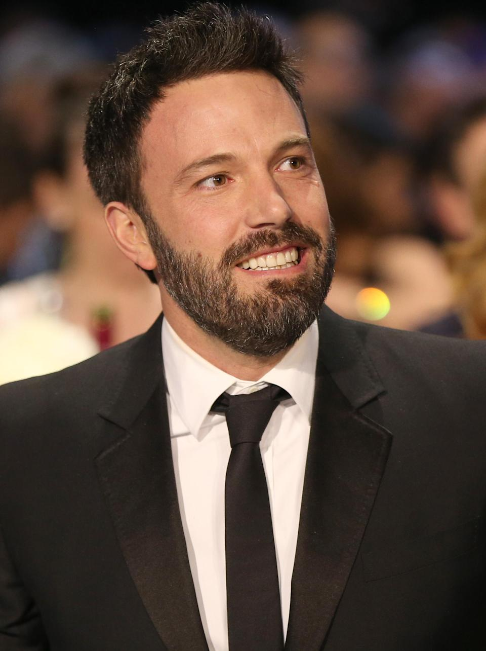 <p>Ben Affleck has sported a beard for the past couple of years so it comes as no surprise to see that he made it into the top ten. <em>[Photo: Getty]</em> </p>