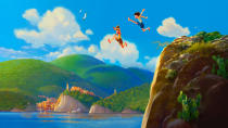 Pixar's next big adventure is a coming-of-age tale set on the Italian Riviera, with added sea monsters. It's the feature directorial debut of Enrico Casarosa, who previously made the <em>La Luna</em> short which was packaged with the release of <em>Brave</em>. A Pixar spin on <em>Call Me By Your Name</em>? Sounds like a lot of fun. (Credit: Pixar/Disney)