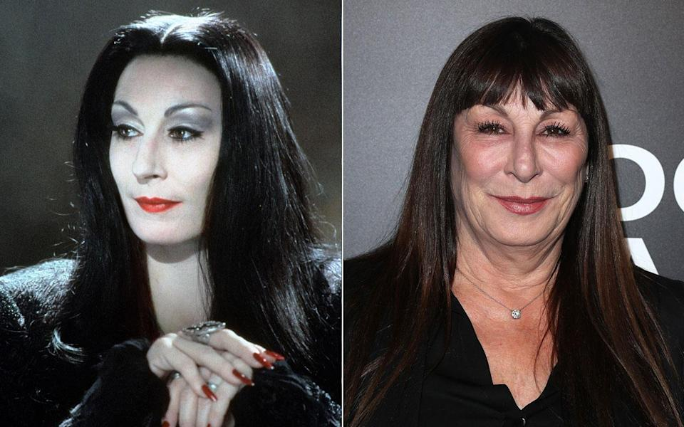 Anjelica Huston as Morticia Addams - Credit: Rex Features