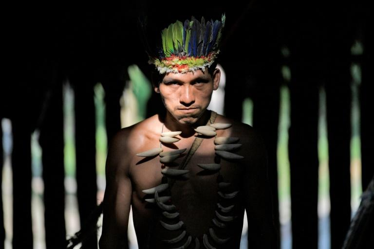 A Colombian Huitoto indigenous man. A mounting body of evidence suggests that legal recognition of indigenous land rights provides greater forest protection (AFP Photo/Raul ARBOLEDA)