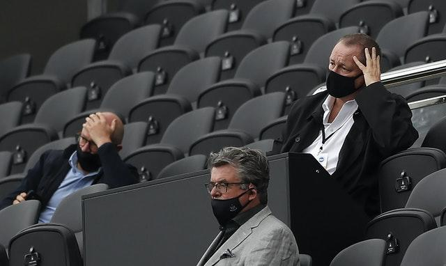 Newcastle owner Mike Ashley was there to watch the Brighton defeat