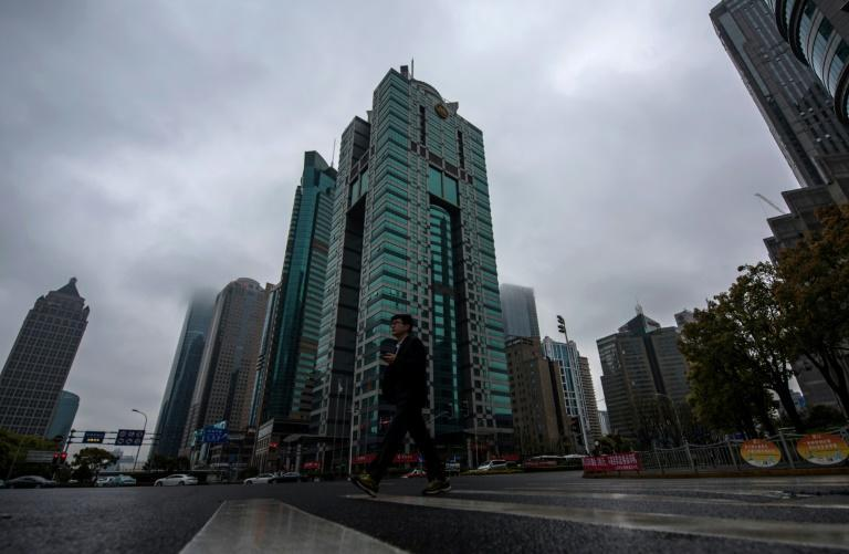 The building (C) where the Panama-based law firm Mossack Fonseca has an office in Shanghai