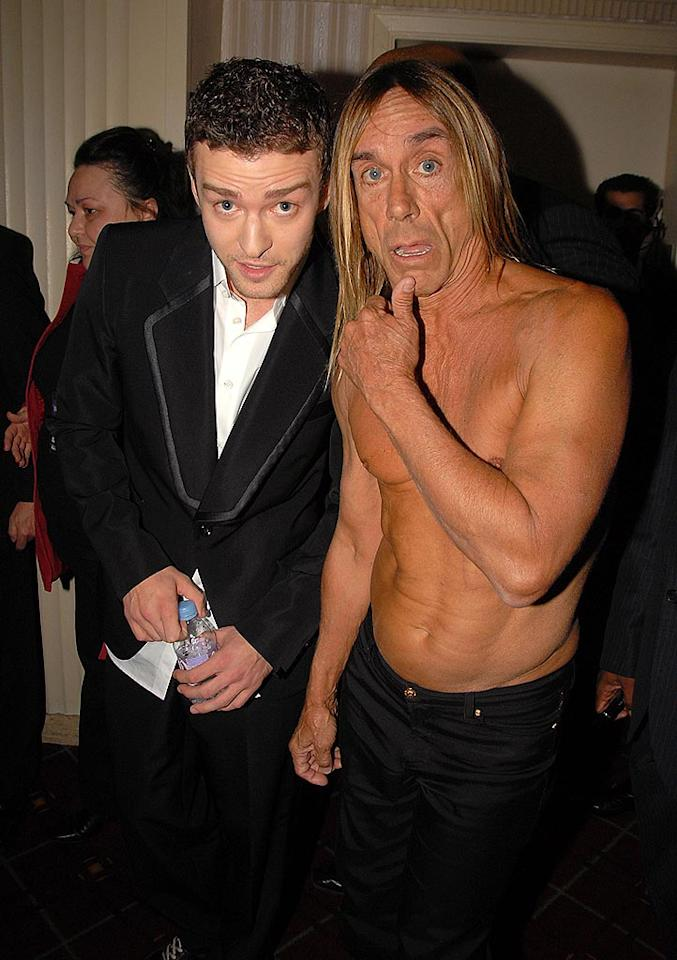 """Do you think Iggy's abs are flatter than JT's? Theo Wargo/<a href=""""http://www.wireimage.com"""" target=""""new"""">WireImage.com</a> - March 10, 2008"""