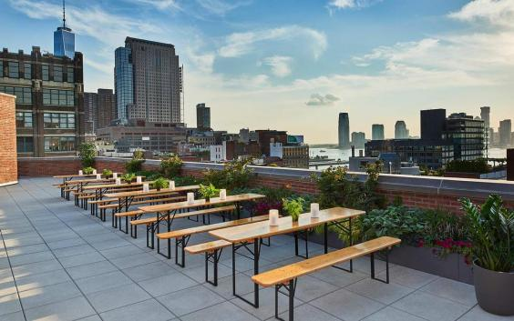 Take in the city views from the rooftop bar at Arlo Soho (Arlo)