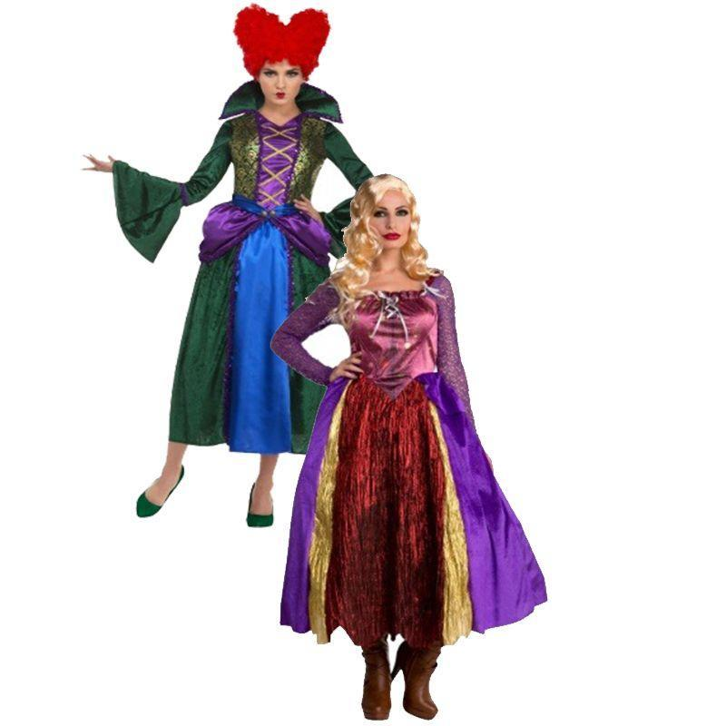 """<p>Two Salem Sisters equals double-trouble. Instead of watching<em> Hocus Pocus</em> this year, dress up as two of the three mischievous sisters who star in it. </p><p><a class=""""link rapid-noclick-resp"""" href=""""https://go.redirectingat.com?id=74968X1596630&url=https%3A%2F%2Fwww.halloweencostumes.com%2Fwomens-silly-salem-sister-witch-costume.html&sref=https%3A%2F%2Fwww.womansday.com%2Fstyle%2Fg28691602%2Fdisney-couples-costumes%2F"""" rel=""""nofollow noopener"""" target=""""_blank"""" data-ylk=""""slk:SHOP SARAH SANDERSON COSTUME"""">SHOP SARAH SANDERSON COSTUME</a></p><p><a class=""""link rapid-noclick-resp"""" href=""""https://go.redirectingat.com?id=74968X1596630&url=https%3A%2F%2Fwww.halloweencostumes.com%2Fwomen-s-bossy-salem-sister-witch-costume.html&sref=https%3A%2F%2Fwww.womansday.com%2Fstyle%2Fg28691602%2Fdisney-couples-costumes%2F"""" rel=""""nofollow noopener"""" target=""""_blank"""" data-ylk=""""slk:SHOP WINIFRED SANDERSON COSTUME"""">SHOP WINIFRED SANDERSON COSTUME</a> </p>"""