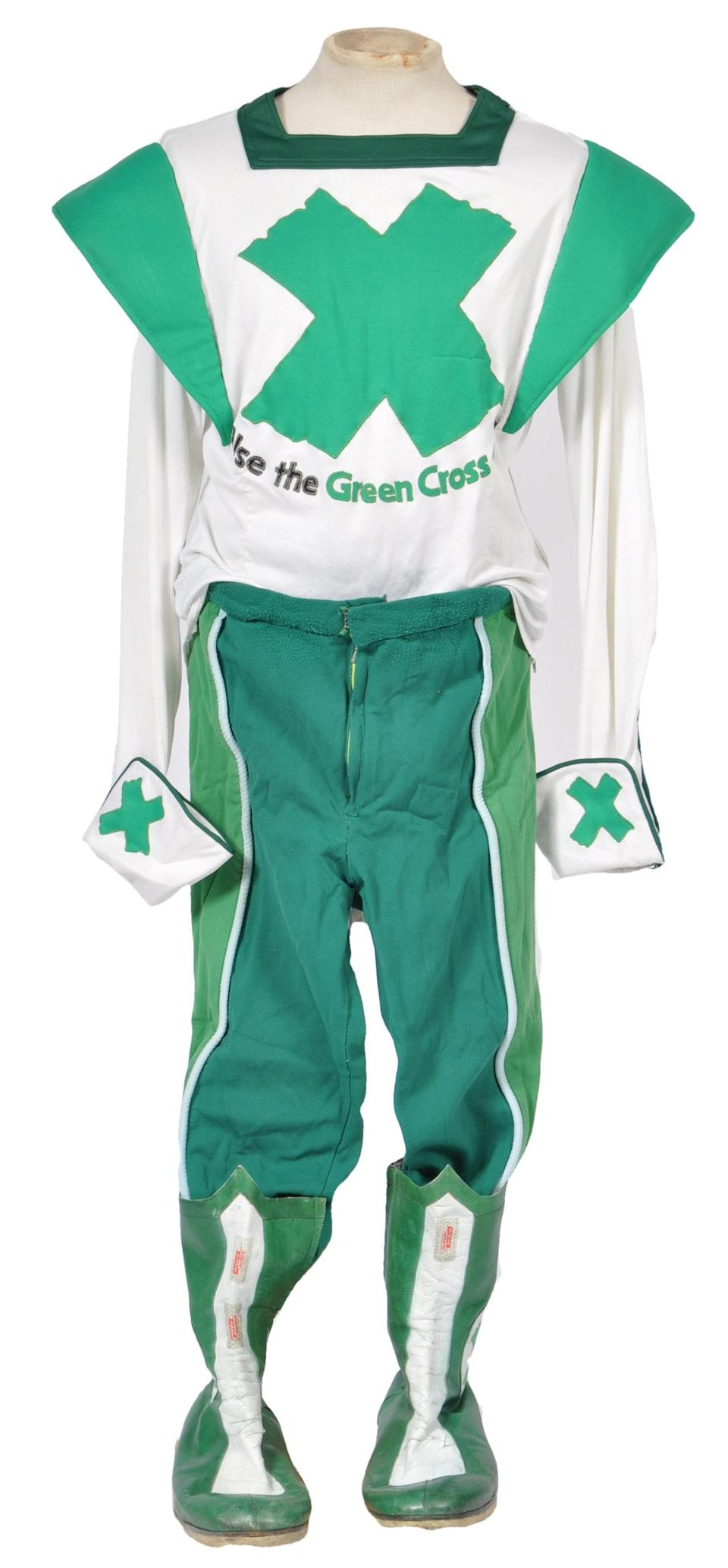 David Prowse's Green Cross Code Man superhero suit will be among the lots (East Bristol Auctions/eastbristol.co.uk)