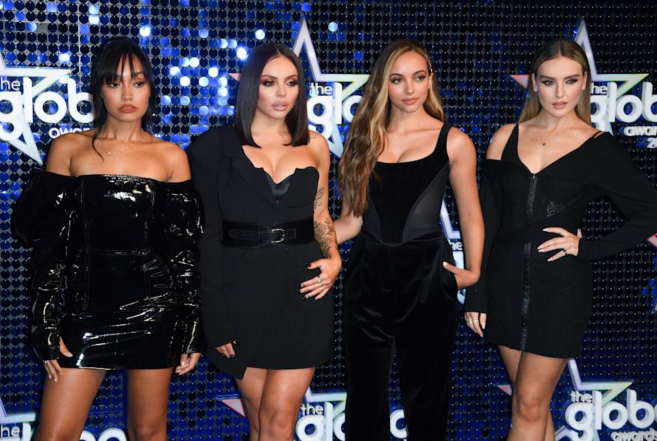 Little Mix (left to right) Leigh-Anne Pinnock, Jesy Nelson, Jade Thirlwall and Perrie Edwards attend The Global Awards 2019 with Very.co.uk held at London's Eventim Apollo Hammersmith. Picture credit should read: Doug Peters/EMPICS