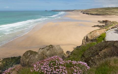 perranporth beach, cornwall - Credit: AP