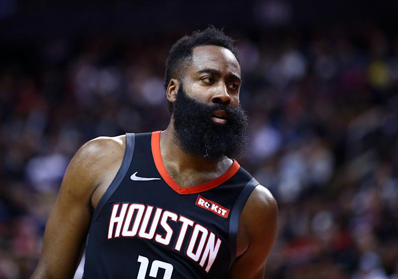 Rockets' protest of James Harden missed dunk denied