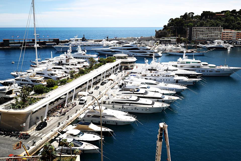 MONTE-CARLO, MONACO - MAY 19: A general view of the harbour during previews ahead of the F1 Grand Prix of Monaco at Circuit de Monaco on May 19, 2021 in Monte-Carlo, Monaco. (Photo by Bryn Lennon/Getty Images)