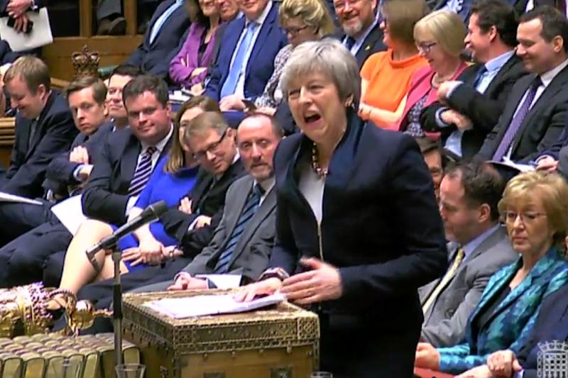 Prime Minister Theresa May has torn up her negotiating strategy and sought Labour leader Jeremy Corbyn's support (AFP Photo/HO)
