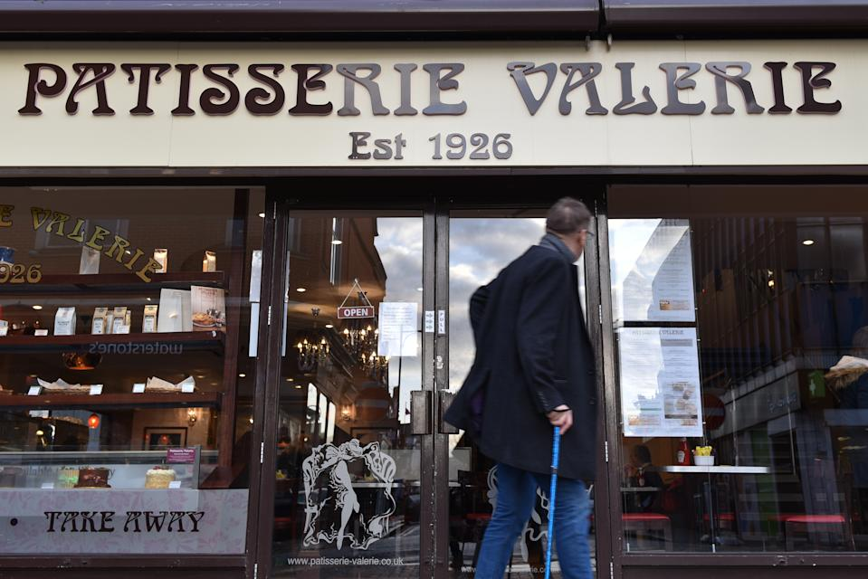 SOUTHEND ON SEA, ENGLAND - JANUARY 25: A general view of a Patisserie Valerie cafe in the high street on January 25, 2019 in Southend on Sea, England. (Photo by John Keeble/Getty Images)