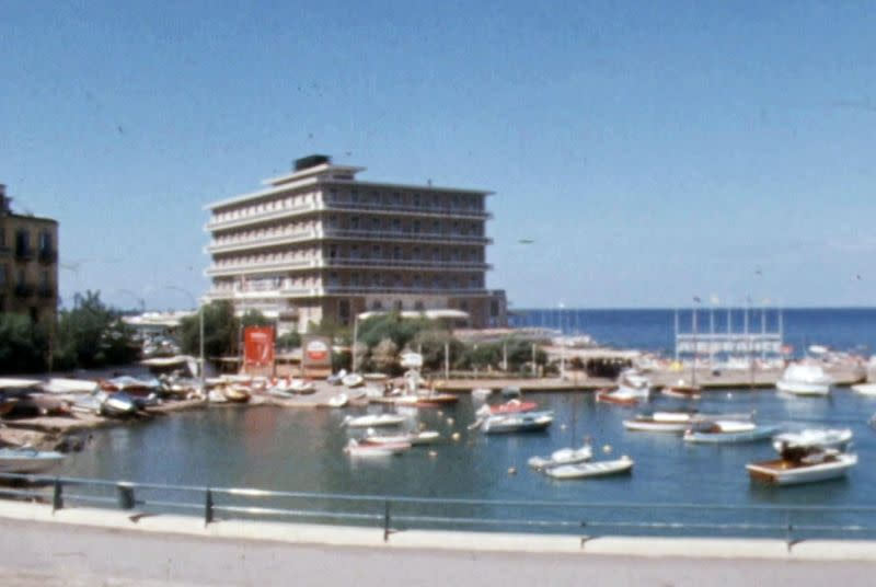A general view of Saint George Hotel in Beirut