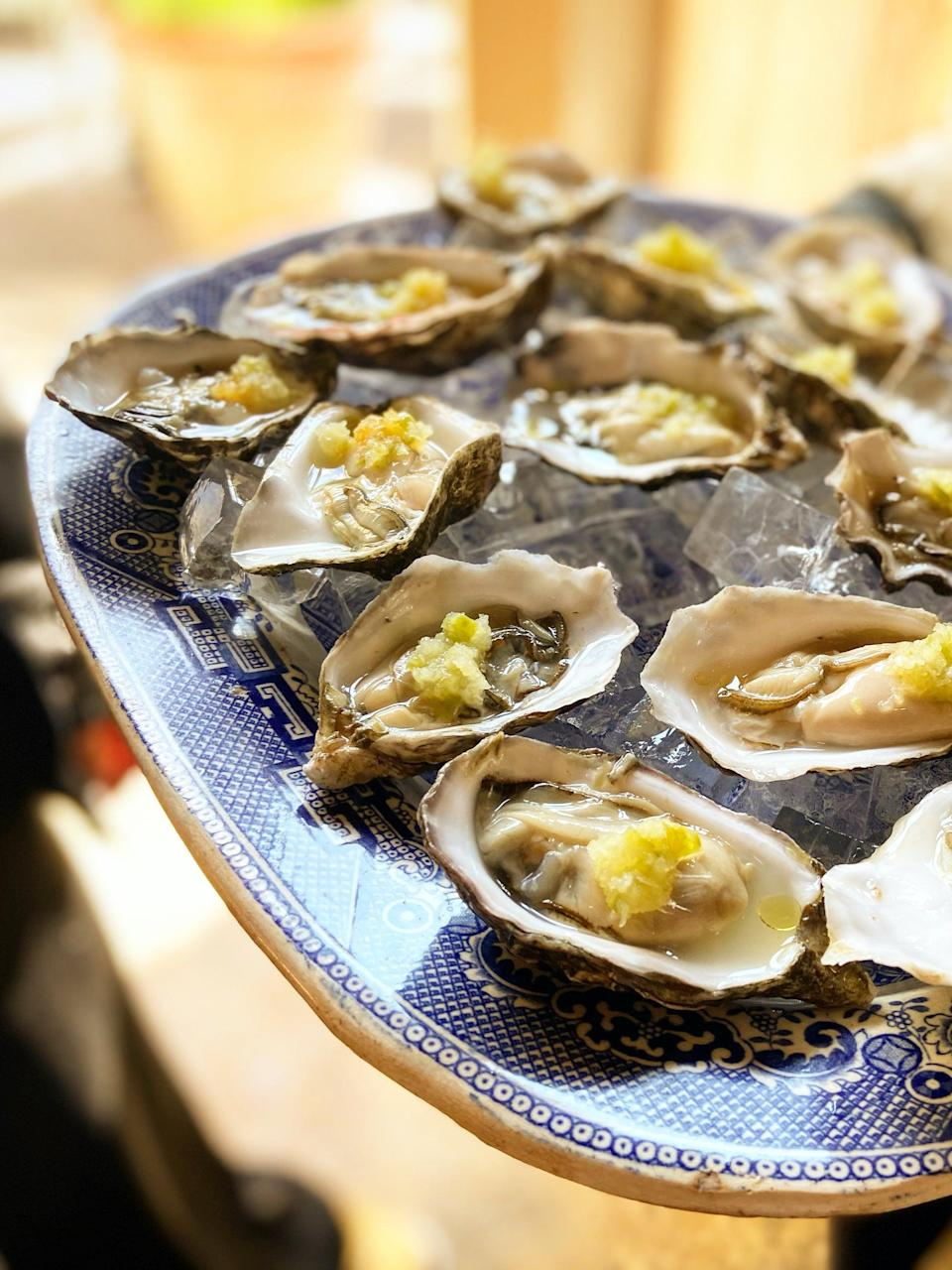 Porthilly oysters, sweetened with apple and salted with soy (The Rocket Store)