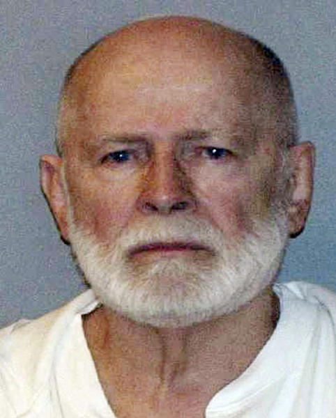 "FILE - This June 23, 2011 file booking photo provided by the U.S. Marshals Service shows James ""Whitey"" Bulger. A federal judge in Boston will hear arguments Wednesday, Feb. 13, 2013, on Bulger's claim that he was given immunity to commit crimes while he was an FBI informant. Bulger's lawyers want to use his immunity claim as a defense at his upcoming trial. (AP Photo/U.S. Marshals Service, File)"