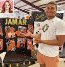 """<p>Drummond was bursting with emotion watching her <a href=""""https://people.com/food/ree-drummond-foster-son-jamar-high-school-graduation/"""" rel=""""nofollow noopener"""" target=""""_blank"""" data-ylk=""""slk:foster son Jamar graduating"""" class=""""link rapid-noclick-resp"""">foster son Jamar graduating</a>. She shared a photo of the high school senior — who will be playing football at the University of Central Oklahoma — on <a href=""""https://www.instagram.com/p/CO3bRywssVc/?utm_source=ig_embed&ig_rid=99376d67-0b5d-4255-a0be-31ae4245e3cc"""" rel=""""nofollow noopener"""" target=""""_blank"""" data-ylk=""""slk:Instagram"""" class=""""link rapid-noclick-resp"""">Instagram</a>, sharing, """"Someone's graduating today! And here are the emojis that describe how I currently feel about it: 😃😢🙌😭👍🥺👏 🎓😭😭👊."""" </p>"""