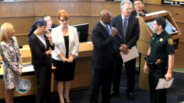 PHOTO: A Tamarac, Florida, commissioner used an awards ceremony to publicly berate a Broward Sheriff's Office deputy. (City of Tamarac)
